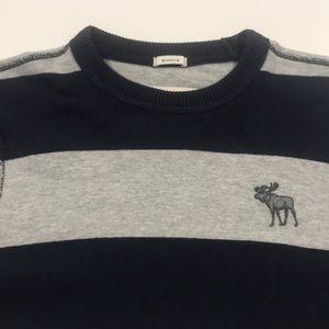 ABERCROMBIE & FITCH Mens Medium Blue Gray Sweater